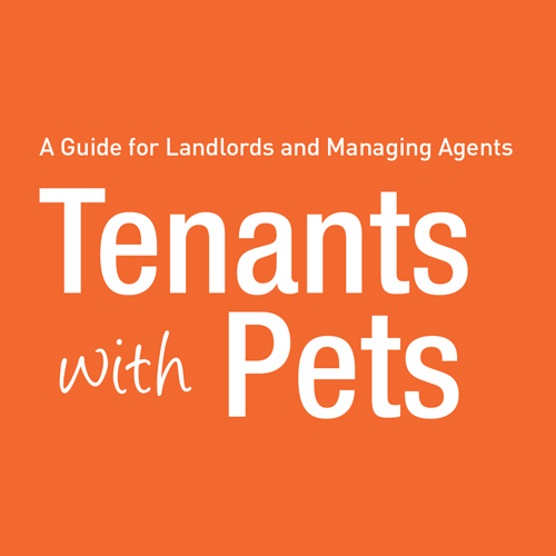 Image of brochure and link to information on tenants with pets.
