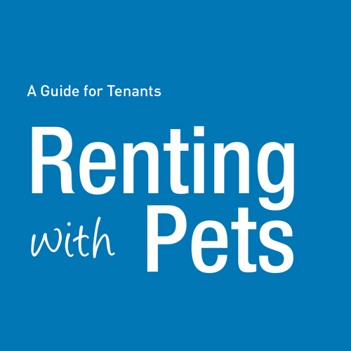 Image of brochure and link to informationon Renting with Pets.