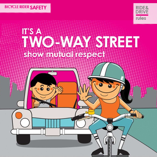 Link to 'It's a Two-Way Street' Cycle Safe Communities by Amy Gillett Foundation.