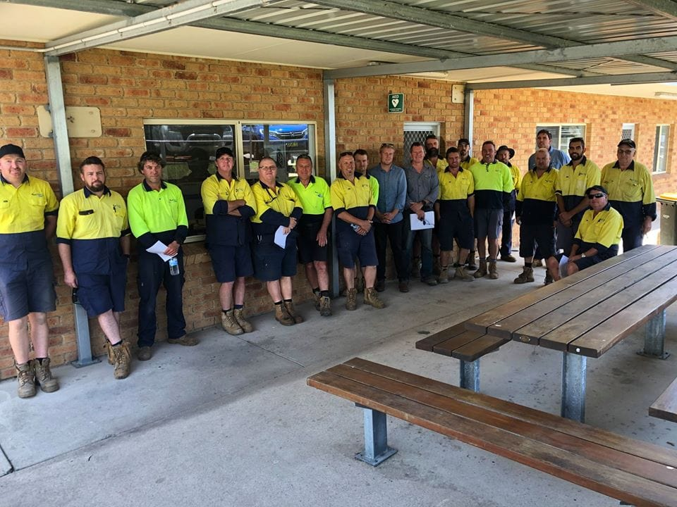 These are the guys who helped keep the water on in Merimbula, Pambula and Eden during the height of the bushfire emergency. That is not to mention the other thousands of things big and small they did to support the community.