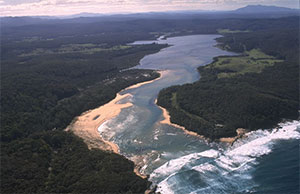 Estuary within the Bega Valley Shire.