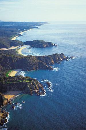 Bega Valley coastline.