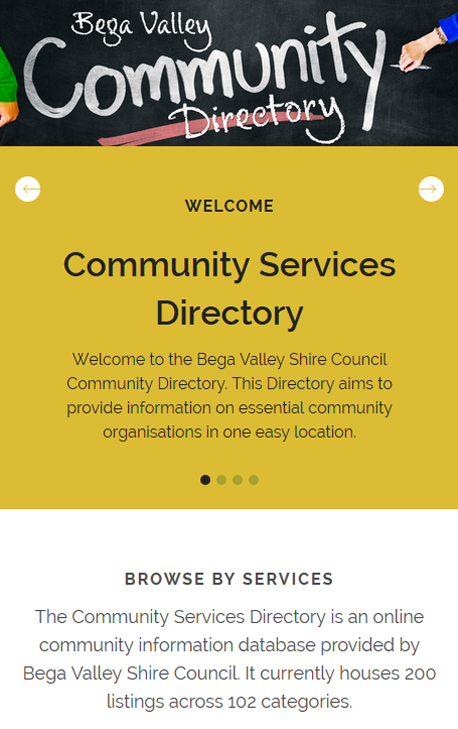 Bega Valley Community Directory to be launched on 24 May 2018.