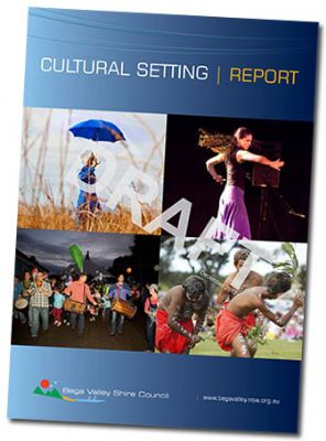 Image of the cover of the Cultural Setting Report.