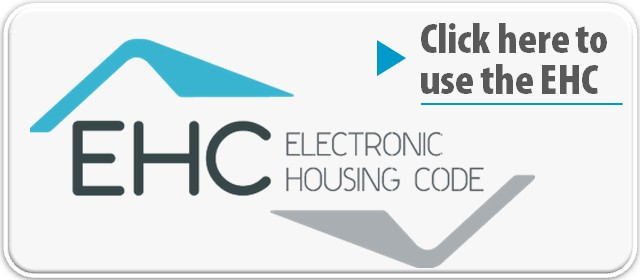 Electronic Housing Code Logo with link to site.