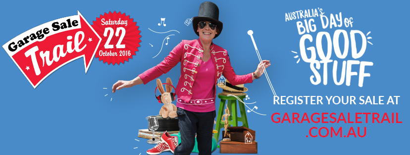 Image of garage sale poster.