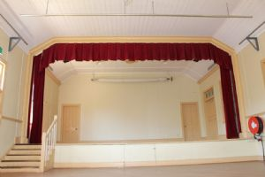 Stage area of Pambula hall.