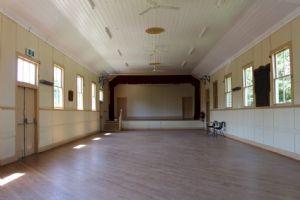Inside of Pambula Hall.