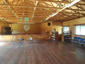 Inside view of Towamba Hall.