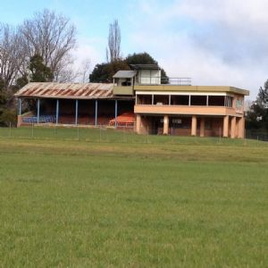 Old Bega Racecourse stadum and facilities.
