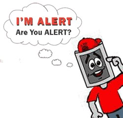 Image of I'm Alert character and link to Safety Training.