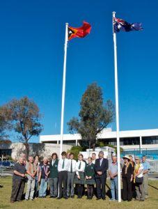 Timor Leste Flag raising