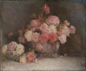 Tom Roberts, Roses 1911, oil on canvas on hardboard, 51 x 61cm Collection AGNSW