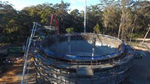 Progress photos of the Nutleys Creek Reservoir Project.