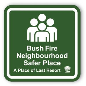Look for this sign when identifying your Neighbourhood Safer Place