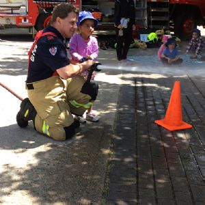 Practising fire safety at Bandara Children�s Services
