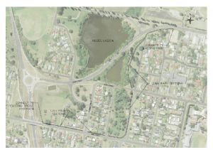A plan of the new section of shared pathway to be completed by April 2017