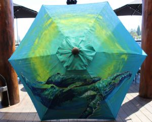 Sundeck Caf� Umbrella painted by Kimberly Dodd
