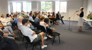 Around 50 people from small businesses across the Bega Valley attended a dynamic �Back to Business� week event in Merimbula with Canberra based business coach Natasha Vanzetti.