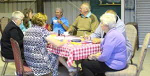 Wonboyn residents gather at the local fire shed to meet with Council staff and complete the Understanding Our Place Survey.