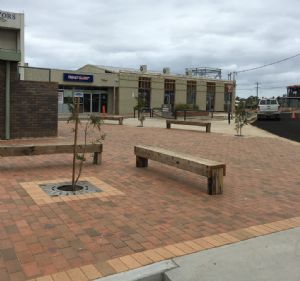 Landscaping works at the Palmer Street carpark