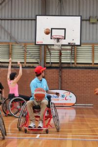 Shooting for awareness at the Wheelchair Sports Awareness Roadshow