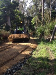 Construction begins on the Lake Curalo pathway in Eden