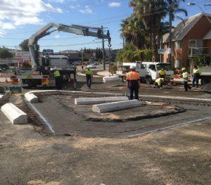 Merimbula roundabout works.