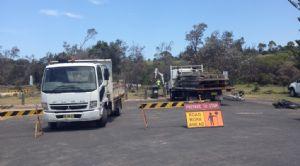 Works underway on the Wallaga Lake boardwalk