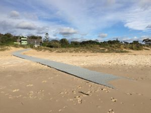 The access path on Pambula Beach before the East Coast Low washed sections away