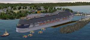 Artist impression of the Eden Breakwater Wharf, from Crown Lands.