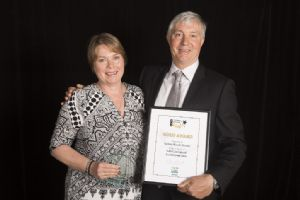 Gold Award winners Rob and Lesley White of Tathra Beach House Apartments