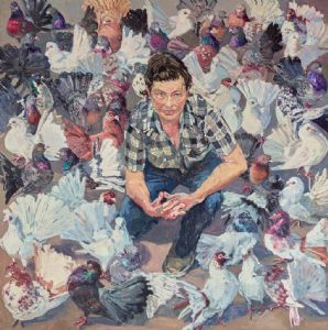 �Lucy and fans� by Lucy Culliton, 2016 Archibald finalist.