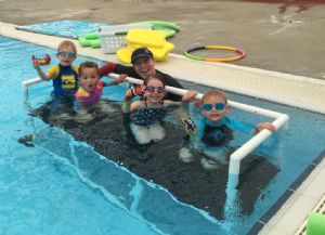 All smiles during water education at the Sapphire Aquatic Centre in Pambula.