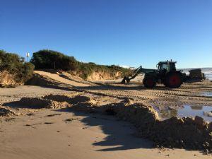 Repair works at Pambula Beach following last weekend�s East Coast Low