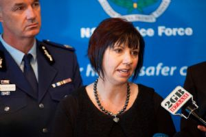 Melissa Pouliot speaks to the media as part of her advocacy work for missing persons.