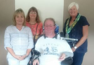 Council�s Disability Support team (from left), Irene Theodorakis, Margaret (Peggy) Storch, Matthew Peters and Karen Griffiths.