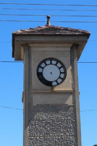 Bega�s clock tower is getting some TLC before Christmas.