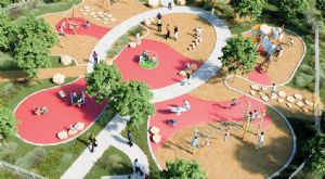 Concept drawing of the Ford Park accessible playground