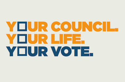 Image saying Your Council, your life, your vote.