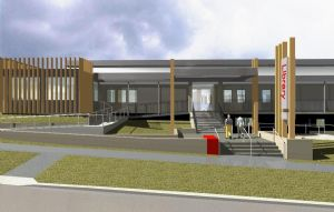 Artist impression of the new Tura Beach library and community centre.