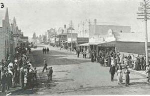 Carp street bega, early 1900.