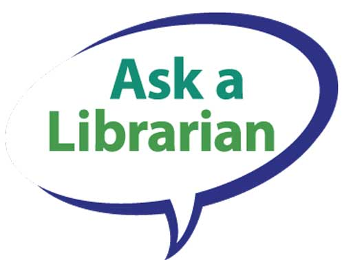 Image Ask a librarian with link to online form.