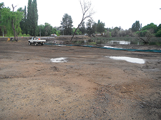Image of current works at Kiss' Lagoon, Bega.