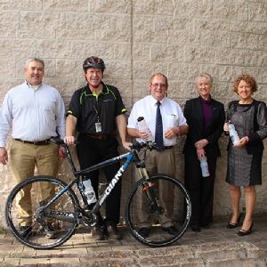 Mayor and councillors show support for the safety campaign 'It's a two-way Street'.