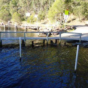 Before image of wonboyn boat ramp.