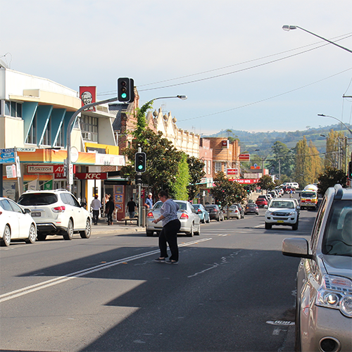 Image of Bega�s busy CBD.