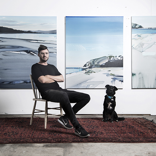 Julian Meagher in his studio.  Photo credit, Nick Walker.