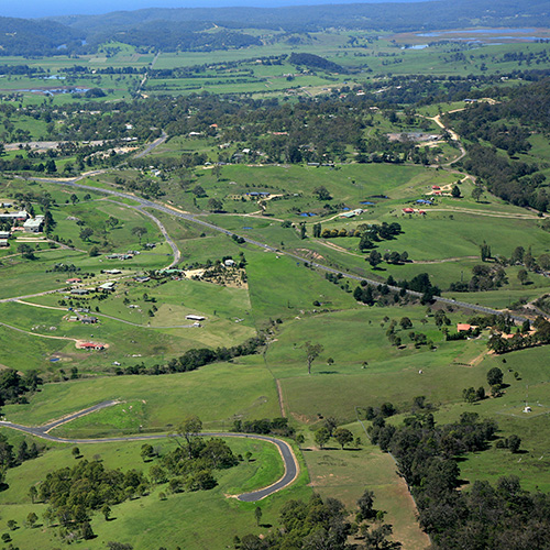 Countryside near Bega from the air.