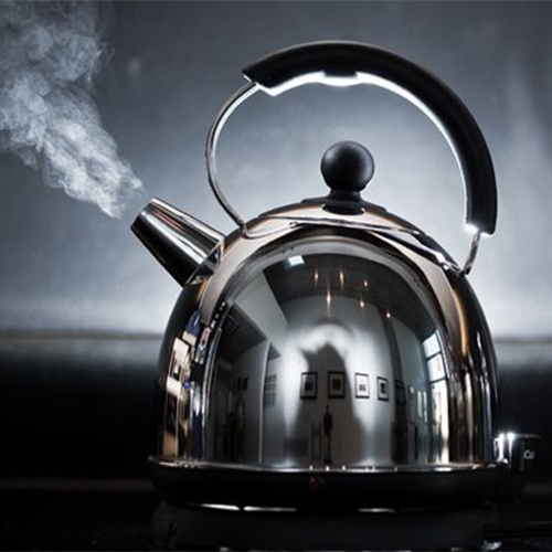 Image of kettle boiling.